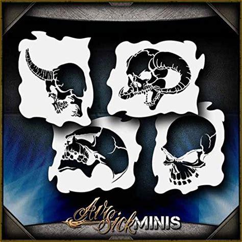 skull airbrush stencils amazoncom