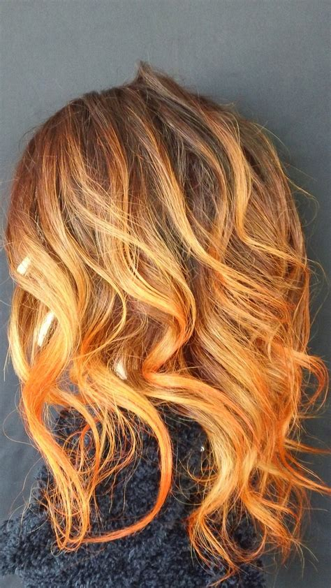 Best 25 Orange Highlights Ideas On Pinterest Brown Hair