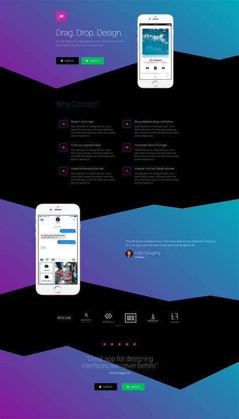 elementor template landing page   mobile app