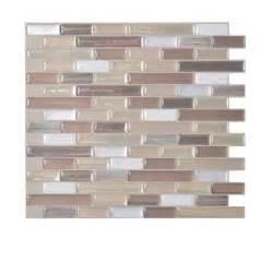 smart tiles 10 20 in x 9 10 in peel and stick mosaic decorative wall tile backsplash durango