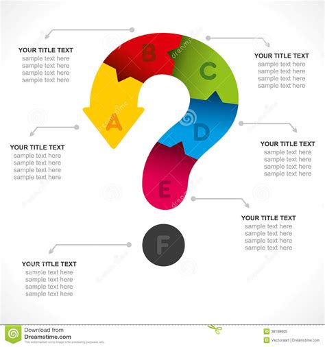 graphic design questions creative question info graphic stock vector image