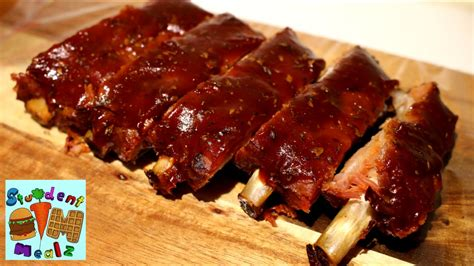 cooking ribs in oven slow cooked oven ribs recipe youtube