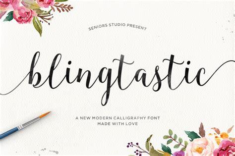 blingtastic script script fonts creative market