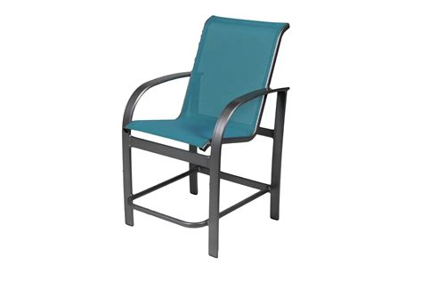 suncoast sling aluminum gathering height chair 9105
