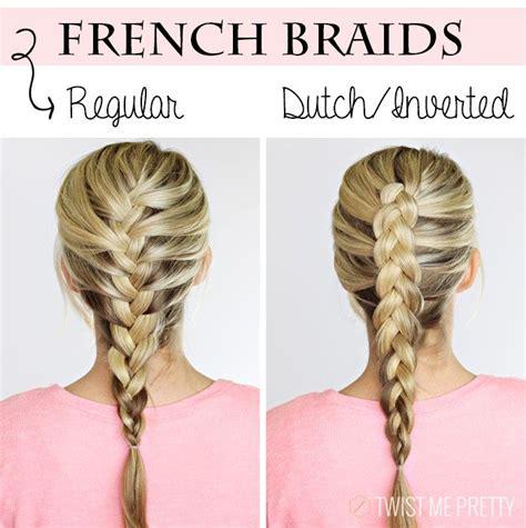 inverted french braid ideas  pinterest