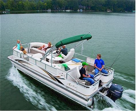 Bennington Pontoon Boat In Rough Water by Research Avalon Pontoons Lp Rear Fish 24 Pontoon Boat On