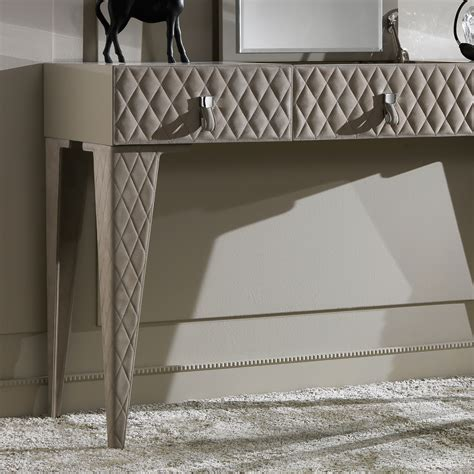 high end luxury italian quilted nubuck dressing table juliettes interiors