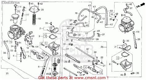 Honda Rebel Schematic by Honda Cmx450c Rebel 1986 G Usa California Carburetor