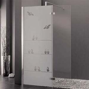 sticker depoli pour paroi de douche oiseaux sur fil With porte vitrée douche
