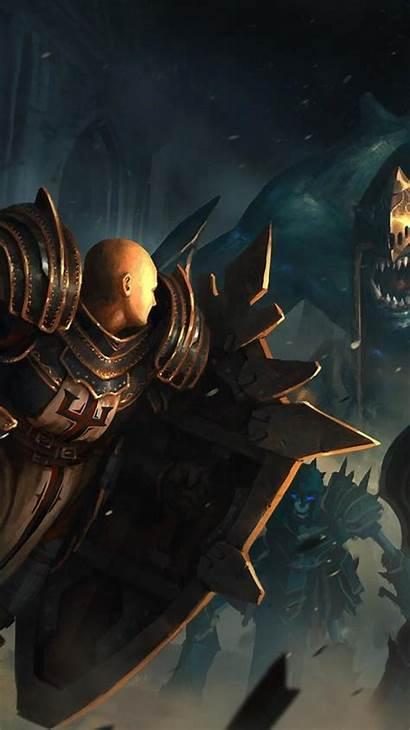 Crusaders Iphone Wallpapers Battle Wallpaperaccess Diablo Skeleton