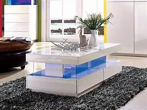 Table Basse Pas Cher : table basse fabio mdf laqu blanc leds table basse vente unique ventes pas ~ Teatrodelosmanantiales.com Idées de Décoration