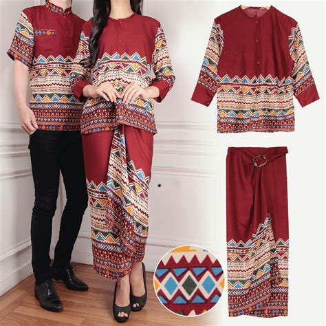 baju motif batik setelan rok lilit panjang modern terbaru ryn fashion