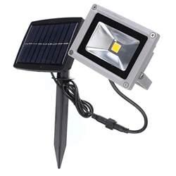 buy 10w solar power led flood light waterproof outdoor