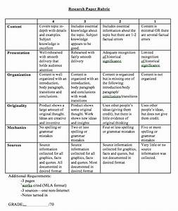 Research paper rubric history order custom essay online for History rubric template