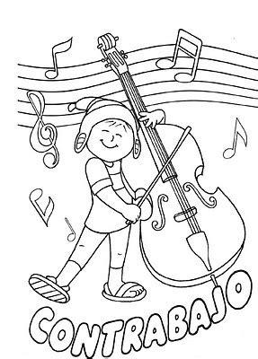 """Si te gusta la música y tocar los instrumentos musicales, entonces querrás leer esto, porque seguramente, no sabes cómo se llaman algunos instrumentos ¿verdad? Material de Isaac para Educacion Especial: fichas para pintar """"instrumentos musicales"""""""