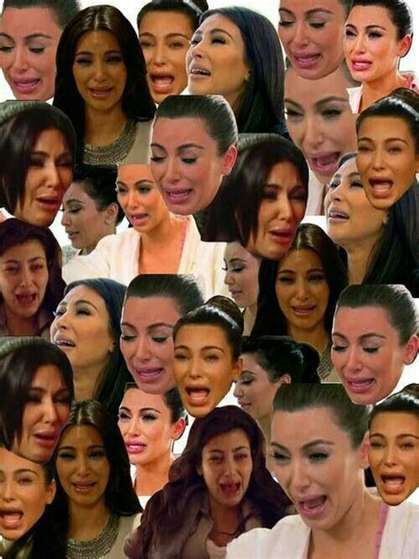 Kim Kardashian Crying Meme - kim s crying face is funny as fuck lol pinterest crying face face and wallpaper