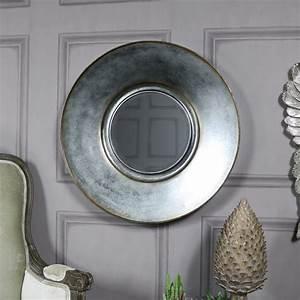 Spiegel Rund Groß : gro grau bronziert patina rund wand spiegel shabby vintage chic ebay ~ Indierocktalk.com Haus und Dekorationen