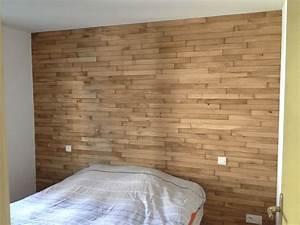 Tete de lit en parquet chene eclairage couloir pinterest for Tete de lit parquet