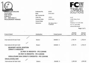 the minister the trade mission and a eur1993 hotel bill With invoice for speaking engagement