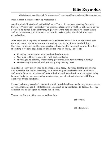 How To Write A Proper Resume Exle by 10 Quality Assurance Cover Letter Exles Resume Sles