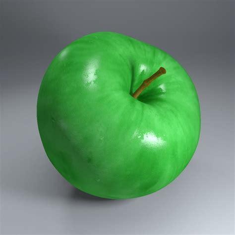 Green apple 3D nice | CGTrader
