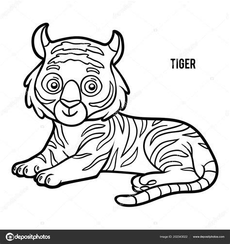 tigre da disegnare per bambini libro colorare bambini tigre vettoriali stock 169 ksenya