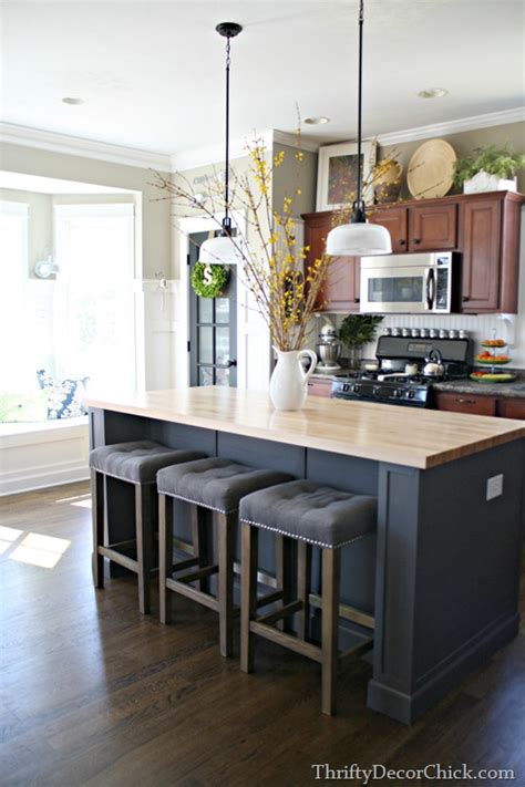 decorating kitchen islands updated kitchen pics from thrifty decor