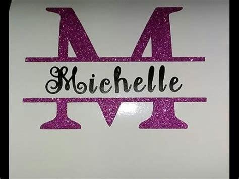 design  split monogram   cricut youtube