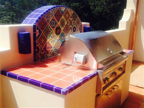 awesome outdoor bbq  mexican tile mexican hacienda pinterest mexicans backyard  patios