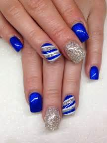 Nail ideas blue prom inspied design for cute girl cool