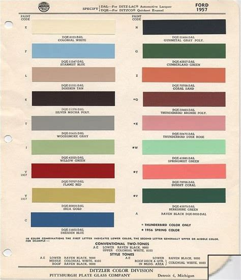 1957 ford paint colors 1957 ford fairlane club victorias