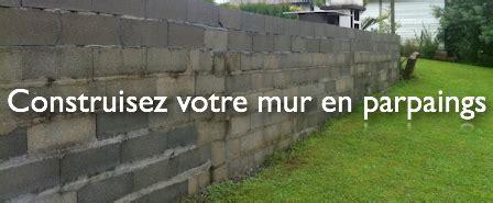 construire un mur en parpaing