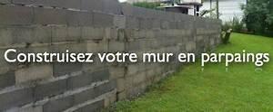 Prix Mur Parpaing Cloture : mur parpaing tapes de montage prix et conseils ~ Dailycaller-alerts.com Idées de Décoration