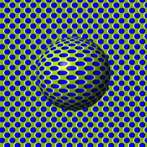 Optical Illusion (sphere On Flat Background) By