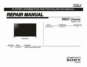 Sony Xbr-65x800b Service Manual