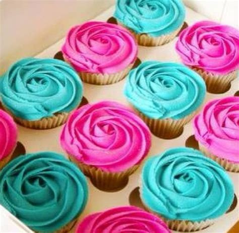 Pink And Teal Cupcakes Yum!  Cupcake Obsessed Pinterest