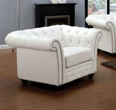 chair loveseat 3pc sofa set white bonded leather living room sectionals