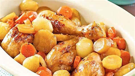 repas sans cuisiner casserole de pilons de poulet aux cinq épices et érable