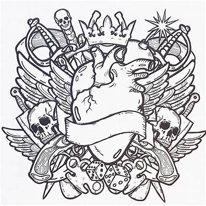 Tattoo Coloring Pages Cross Printable Getcolorings