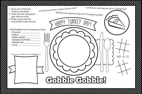 images  thanksgiving placemat printables