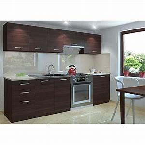 Küchenzeile 240 Cm : k chenzeile k chenblock k che 240 cm l nge farbe kastanie ~ Orissabook.com Haus und Dekorationen