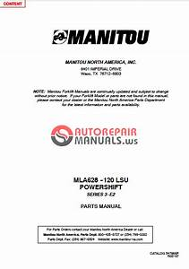 Manitou 628 Mla Workshop Manual