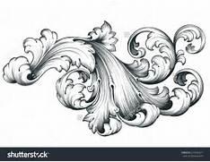 vintage baroque engrav...