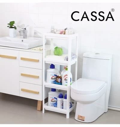 cassa 4 tiers plastic bathroom shelf unit multipurpose rack storage unit
