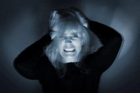 deranged woman stock image image  disease despair