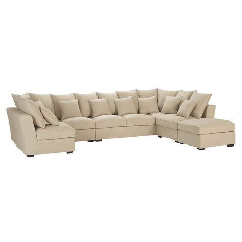 canapé angle beige 7 seat corner sofa in beige balthazar balthazar