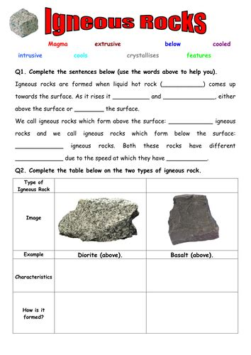 Igneous Rocks By Zuba102  Teaching Resources