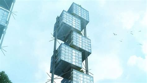 stacked cube skyscrapers sustainable skyscraper