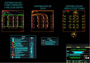 classroom electricity project dwg full project  autocad