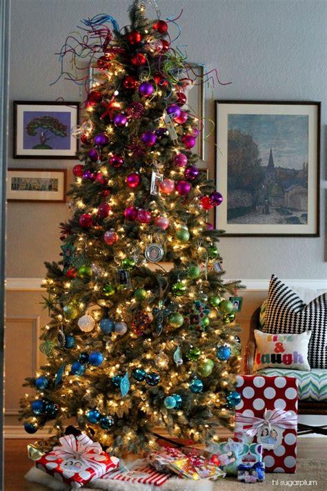 color blocked tree diy urchin ornament hi sugarplum